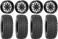 "MSA Milled Bandit 18"" UTV Wheels 36"" XCR350 Tires Kawasaki Teryx Mule"