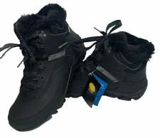 Merrell Womens Aurora Black 6 Ice + Water Proof Winter Boots Size 8.5 Black Noir