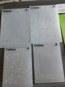 4 Mini Monster Embossing Folders by Cuttlebug 2000412