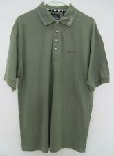 Greg Norman Men's Golf Polo Green Shark Logo Shirt - Size L