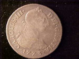 LIMA TWO REALES CHARLES III 1773 JM