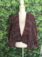 Jeanne Scannell Designer Weaver Vintage Shrug Open Sweater One Size Batwing