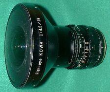Fish-eye KOWA 19mm 1:4.5 with kiev 60 ( KOWA SIX, 66 )