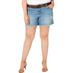 Style & Co. Womens Distressed Denim Basic Cutoff Shorts Plus BHFO 4162
