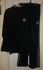 adidas Black White Stripes TMAC Sweat Suit Track Pants Jacket Set Large McGrady