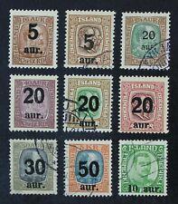 CKStamps: Iceland Stamps Collection Scott#130-139 Mint 3H OG 6 Used