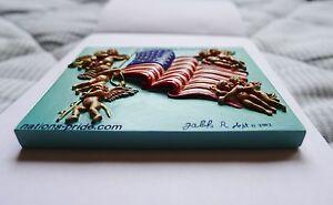 "U.S. Flag Magnets Hand made, 3D ""God Bless America"""