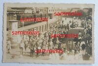 altes PK Foto BORKUM Bahnhof Kriegerverein Jugend Parade 27.Juli 1922 P845