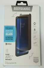 BodyGuardz Pure Arc Privacy for Samsung Galaxy S8+ (Plus) Curved Tempered Glass