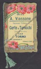 CALENDARIETTO 1906 VIASSONE CARTE TAROCCHI TORINO  ART NOUVEAU LIBERTY - DIFETTI