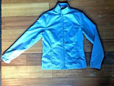 BOBBY JONES WOMENS BLUE JACKET GOLF WATER RESISTANT SIZE SMALL