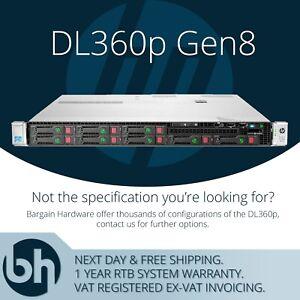 HP ProLiant DL360p Gen8 2x Xeon E5-2670 2.60GHz Eight OCTA Core 1U Rack Server