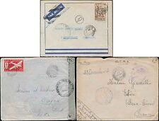 FRENCH AFRICA WW2 IVORY COAST AOF + CONGO AEF + FM...3 COVERS