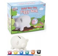 Paint Your Own Piggy Bank Glitter Ceramic Money Box Saving Kids Craft Gift Fun