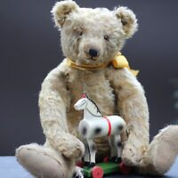 "Pre-war Antique Steiff Teddy Bear c1920s 17.3"" Tall Character Hump Bear Long F"
