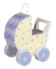 BABY SHOWER PARTY PRAM BUGGY PINATA GAME UNISEX TABLE CENTREPIECE DECORATION