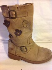Girls Next Brown Leather Boots Size 11