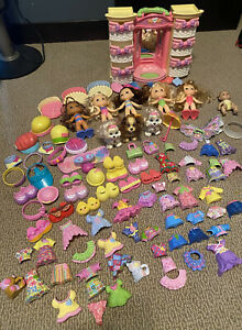 Fisher Price Snap N' Style Doll Set & Wardrobe 100 pieces - 6 dolls, 3 dog RARE!