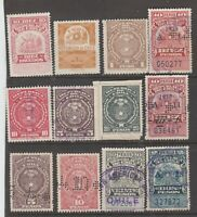 Chile Revenue Fiscal or Cinderella Stamp MN-3 most with perfins