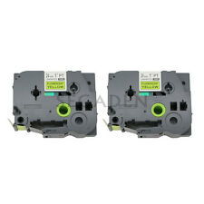 2pk Black / Fluo Yellow Label Tape Fit for Brother P-Touch TZ TZeC51 24mm