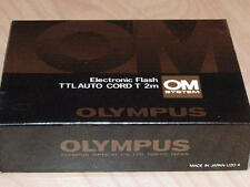 OLYMPUS OM TTL AUTO CORD T 2m FOR T POWER CONTROL T-20 T-32 T-45 NEW IN BOX