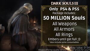 Dark Souls 3 (PS4 & PS5) Item Drop - 50 Million Souls & All Weapons, Gear, Rings