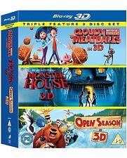 Cloudy with a Chance of Meatballs 3D / Monster House 3D / Open Season 3D Blu-ray