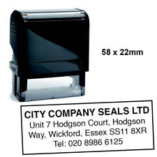 Business Company Personalised Stamp Self-Inking   58x22mm   Corporate Stationary