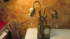 Antique Schadow & Son Art Nouveau Lamp & Clock