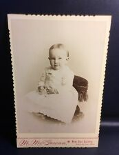 Cabinet Card Vintage Photo New Star Gallery Cute Baby Finger Touching X-9