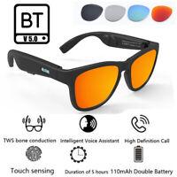 Bone Conduction Smart V5.0 bluetooth Headphone Polarized TWS Stereo Sunglasses