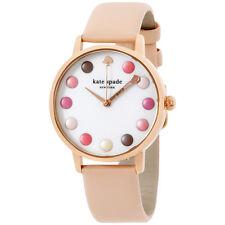 Kate Spade Metro Polka Dot Leather Strap Women's Watch KSW1253
