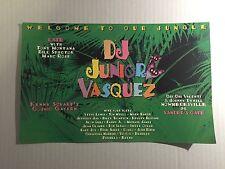 Rare Vintage 90s Club Flyer: JUNIOR VASQUEZ w/ GRACE JONES @ TUNNEL NYC Invite