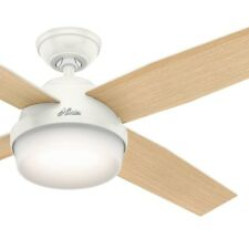 """52"""" Hunter Contemporary Fresh White Ceiling Fan - Light Kit and Remote Control"""