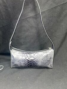 Oroton Reptile Embossed Leather Small Hand Shoulder Bag