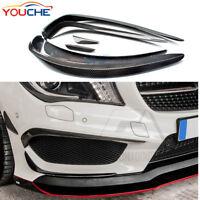 CF Carbon Fiber Front Bumper Splitter Canards for Mercedes Benz W176 A45 AMG