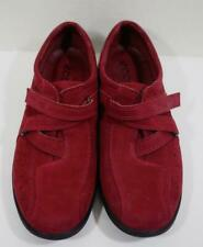 ECCO Women's Red Slip-On Suede Shoe EU Size 39 In Perfect Condition!