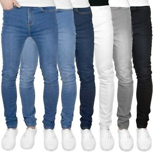 "F&H Blade Mens Super Skinny Fit Stretch Denim Jeans - 28"" - 42"" Waist Sizes"