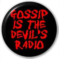 Gossip Is The Devil'S Radio 25Mm Pin Button Badge Lapel Pin Satan Joke