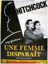 UNE FEMME DISPARAIT Affiche Cinéma / Movie Poster ALFRED HITCHCOCK 80x60