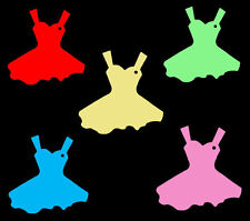 100 Large Dress Shaped Price Tag Labels Swing Tickets. Favour Tags. All Colours