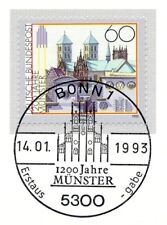 BRD 1993: Münster 1200 Jahre! Nr 1645 mit Bonner Ersttags-Sonderstempel! 1A 1805