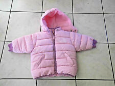 Mädchen Stepp Jacke Gr.80 mit Kapuze innen Fleece rosa 6-9 Monate