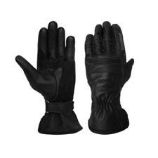 Guanti pelle bovini neri per motociclista uomo