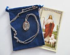 Wonderful St. Florian Saint Medal with 24 inch Necklace