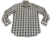 Peter Millar Mens Large Plaid Long Sleeve Button Down Shirt