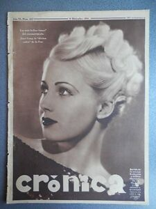 REVISTA CRÓNICA 09/12/1934 REVOLUCIÓN CATALUÑA EQUIPOS SANTANDER