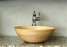 Ariellina Limited Handmade Spun Bamboo Bath Vessel Sink Lifetime Warranty AC7657