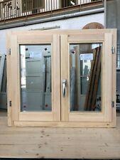 Finestra in legno lamellare grezzo cm L 90 x 80 H battente,levigata,doppio vetro