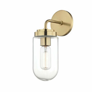 Mitzi H124101-AGB Clara 1 Light Wall Sconce In Aged Brass NEW